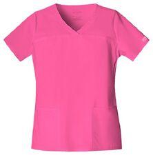 Cherokee Workwear Scrubs Women's V-Neck Scrub Top 4727 Shocking Pink SHPW