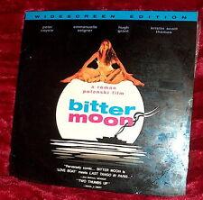 LD Laserdisc BITTER MOON Peter Coyote Emmanuelle Seigner Hugh Grant KS Thomas
