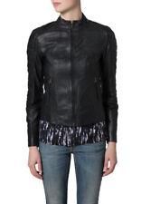 Womens Leather Racer Jacket Real Lambskin Designer Motorcycle Biker Jacket EL48