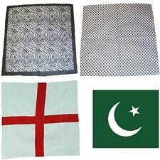 Bandera del país Negro Pakistan Inglaterra Pañuelo Cabeza Bufanda Envoltura de desgaste para hombres niños de pelo