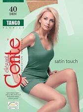 "Mujer Fino Medias Con Sedoso Efecto"" Tango 40 LA "" Satén Touch CONTE"