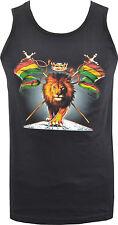 Da Uomo Canotta TANK rastafarianesimo Leone Jamaica Crown Rasta Bob Marley Snoop S-2XL