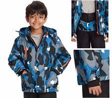 M&S Thinsulate™ Ski Mountain Print Hooded Fleece Lined Boys Winter Coat
