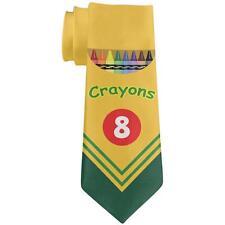 Fun Crayon Box All Over Neck Tie