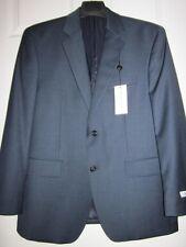 -NEW Calvin Klein Mens Suit Separates Jacket 100% Wool Navy Shark Size 40 S $395