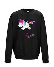 Sudadera Suéter De Mujer Unicorn Einhorn Happy Arco Iris Multicolor Sweet Dulce