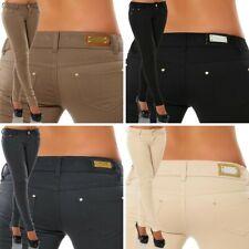 f393e81a777995 Damen Stretch Hose Jeans-Look Röhre Skinny Leggings Leggins Treggings  Jeggings