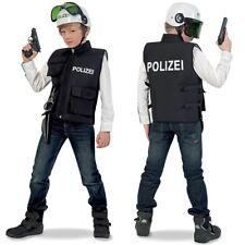 Polizist Kostüm Kinder Polizeiweste Polizeiuniform Polizeihelm Polizei Helm NEU