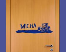 Türaufkleber Trecker Name Kinderzimmer Traktor  25 Farben 40 x 10cm Tür