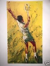 "Leroy Neiman Poster ""BIG SERVE"" rare vintage tennis art"