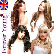 Ladies XXX Long Fashion Full Wig Wavy Straight Blonde Brown Red Black Wigs