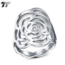 TT Rose Stainless Steel Wedding Dress Party Ring (R271)