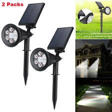 2X 6 LED Solar Garden Lamp Spot Light Outdoor Lawn Landscape Spotlight Lighting