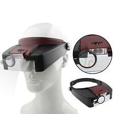 Occhiali Ingrandimento 1.5X | 3X | 8.5X | 10X Lente Zoom + 2 Luci LED