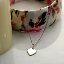 Collar Oro Blanco de 9 Quilates en Forma de Corazón|Cadena|Gargantilla|375