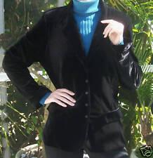 BRAND NEW Boxed Anne Fontaine Black Velvet Jacket~Euro Size 4~Large~NWOT