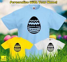 Personalised Easter Egg Kids T-Shirt Childrens Chocolate Custom Spring Gift Tee