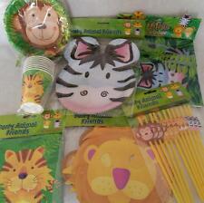 Selva Safari Animal Artículos De Fiesta Elegir platos, tazas, Bols, Servilletas,