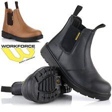 d917d903b0e1a8 Da Uomo S1P IMPERMEABILE Dealer Chelsea in Acciaio Puntale Stivali di  sicurezza scarpe lavoro Tg UK