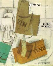 BRIEST PABLO PICASSO Cubism Art Painting 1914 Auction Catalog 1995