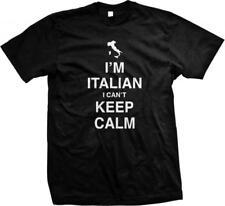 I'm Italian I Can't Keep Calm Carry On Italia Forza Azzurri New Mens T-shirt