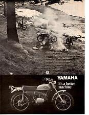 1969 YAMAHA 175 SINGLE ENDURO CT-1 MOTORCYCLE  ~  NICE ORIGINAL PRINT AD
