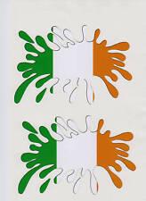 BANDIERA Irlandese SPLAT RALLY AUTO 16V Motorsport Adesivo / Decalcomania