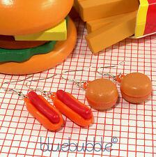 Funky GUMBALL Junk Food Orecchini KAWAII FANCY DRESS COOL Novità Retrò 50s Diner