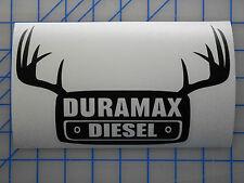 "Duramax Antlers Sticker Decal7.5""10"" Lift Kit Exhaust Bumper 2500 3500 Silverado"