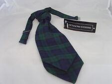 TARTAN Black Green Watch Polyester Boys Ruche-Tie Cravat >More U Buy>More U Save