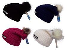 EISBAR BAILEY LUX MU SP with Faux Fur Pompon Winter Merino Wool Sports Ski Hat