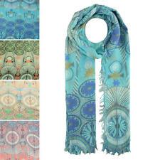 Finecy en-señora y mujeres moda envoltura de burbujas de impresión Suave Primavera Verano Bufanda
