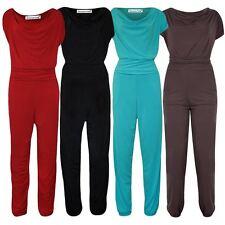 New Womens Plus Size Gathering Cowl Neck Jumpsuit Party Dress 14-28