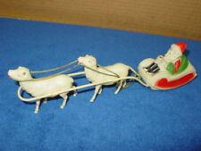 Vintage,Santa,Sleigh,Reindeer,Celluloid,USA,Xmas,Old Christmas Elf Jolly Sled