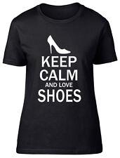 Keep Calm and Love Shoes Womens Ladies Tee T-Shirt