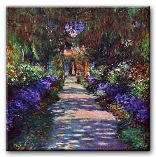 PREMIUM CANVAS ART Claude Monet Garden Path MANY SIZES