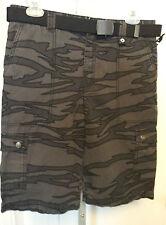 Shaun-White-Cargo-Shorts-Choose-Size-(4-10-16)-Black-Gray-Camouflage-Belt-Cotton