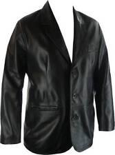 UNICORN Hommes Réel en cuir Veste classique Costume Blazer Noir #G4