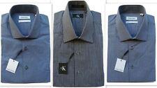 Camicia Uomo Calvin Klein Adattamento Regolare Lusso Puro Cotone Manica Lunga