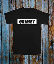 Grimey musica popolare da VIP Tee T Shirt Top Nero Bianco Blogger Tumblr DJ sporcizia