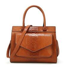 Women Croco Leather Handbag Shoulder Messenger Satchel Tote Crossbody Bags Sz