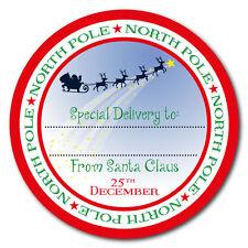 Da Babbo Natale - Polo Nord speciale consegna adesivi - 60mm regalo etichette