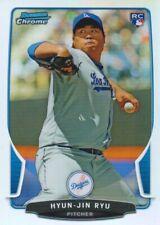 2013 Bowman Chrome Draft Refractors #30 Hyun-Jin Ryu Los Angeles Dodgers