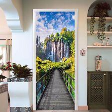 3D Wasserfall 60 Tür Mauer Wandgemälde Foto Wandaufkleber AJ WALL DE Lemon