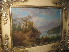 KELLER Clyde Leon, *1872 Romantische Seenlandschaft