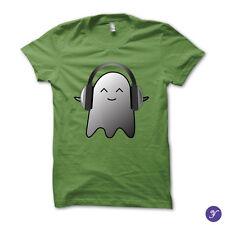 Uplifting Music tshirt - cute ghost music love cool headphones uplifting music