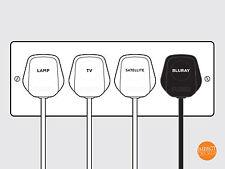 108 contrassegni Plug, PLUG identificazione delle etichette. Adesivo in Vinile Adesivi Spina