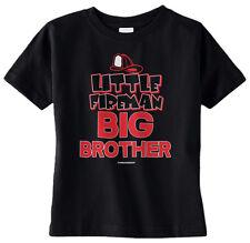 Threadrock Baby Boys Little Fireman Big Brother Infant T-shirt Family Truck