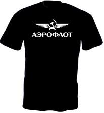 T-shirt aviation russe (aéroflot), aviateur, pilote, S, M, L, XL   NEUF