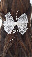 Spitzen Schleifen Haarspange Perlen Spitze Schleife Haarschmuck Freie Farbwahl